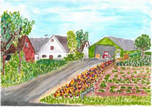 Langemarksgaard maleri